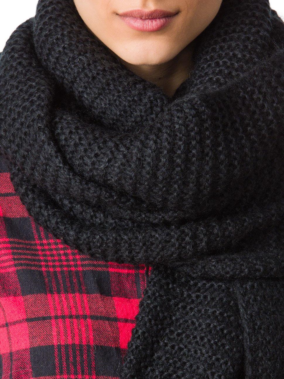 Tolle Ideen für einen Schal schwarz häkeln