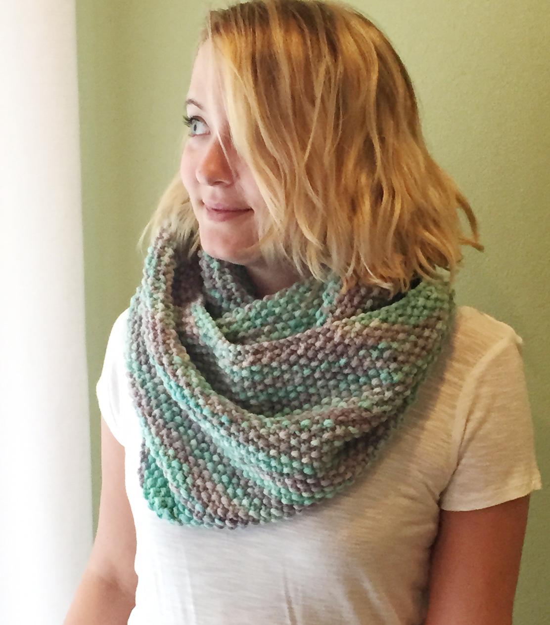 Ein bunter Schal stricken