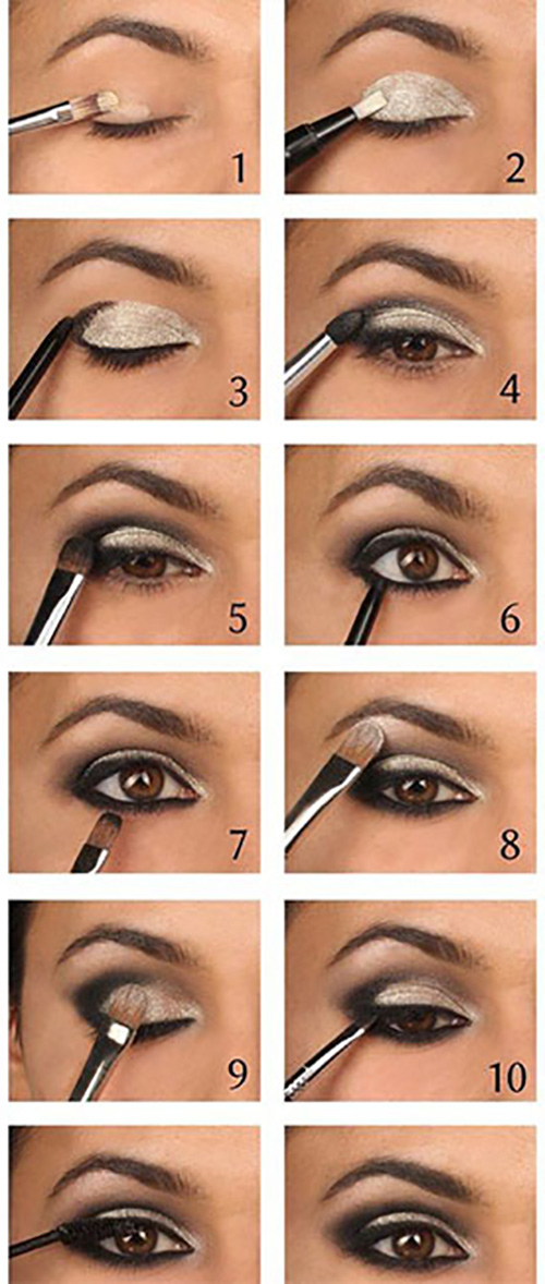 Smokey Eyes in hellen Nuancen