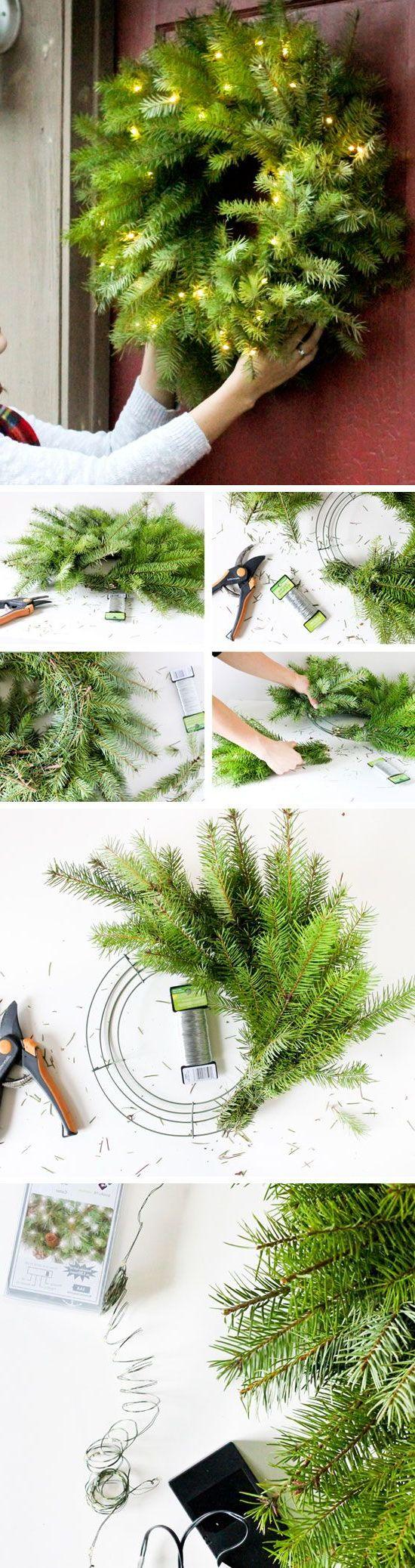 Türkranz Weihnachten selber machen