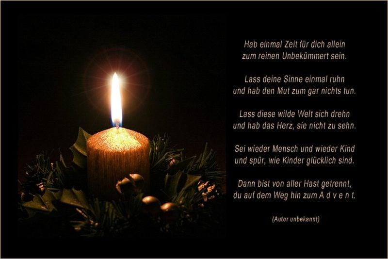 Adventssprüche und Gedichte tiefsinnig