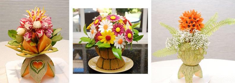 Blumen aus Gemüse -eine Augenfreude