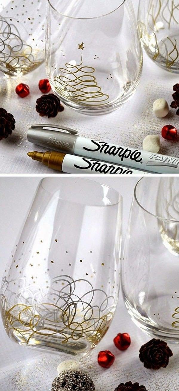 DIY Geschenke selber machen - Glas dekorieren