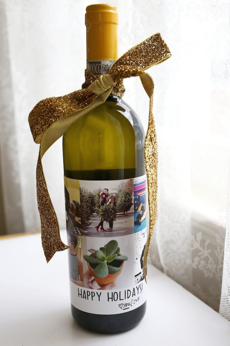 Weihnachtsgeschenke selbst gemacht - Weinflasche selber dekorieren