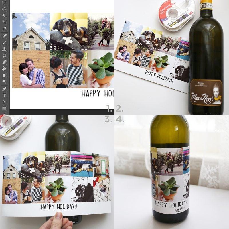 Weihnachtsgeschenke selbst gemacht - Weinflasche selber dekorieren DIY Anleitung
