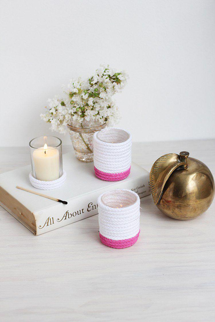 Weihnachtsgeschenke basteln - Kerzenhalter basteln