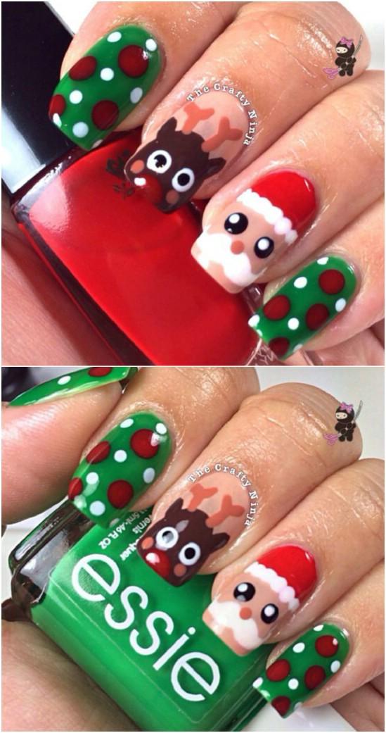 Schöne Nägel Weihnachten Designs
