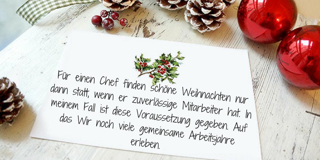 Ideen wie ein Chef Weihnachtssprüche kurz schreibt