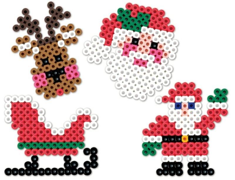 Bügelperlen Vorlagen Weihnachten Weihnachtsmann Rentier