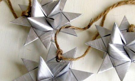 Origani falten Weihnachten Bastelanleitungen