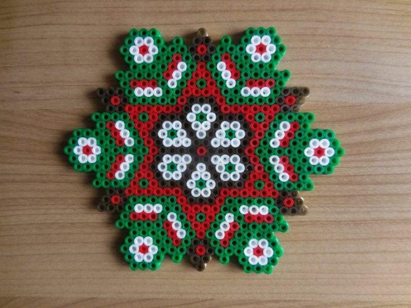 Bügelperlen Vorlagen Weihnachten originelle Ideen zum Nachmachen