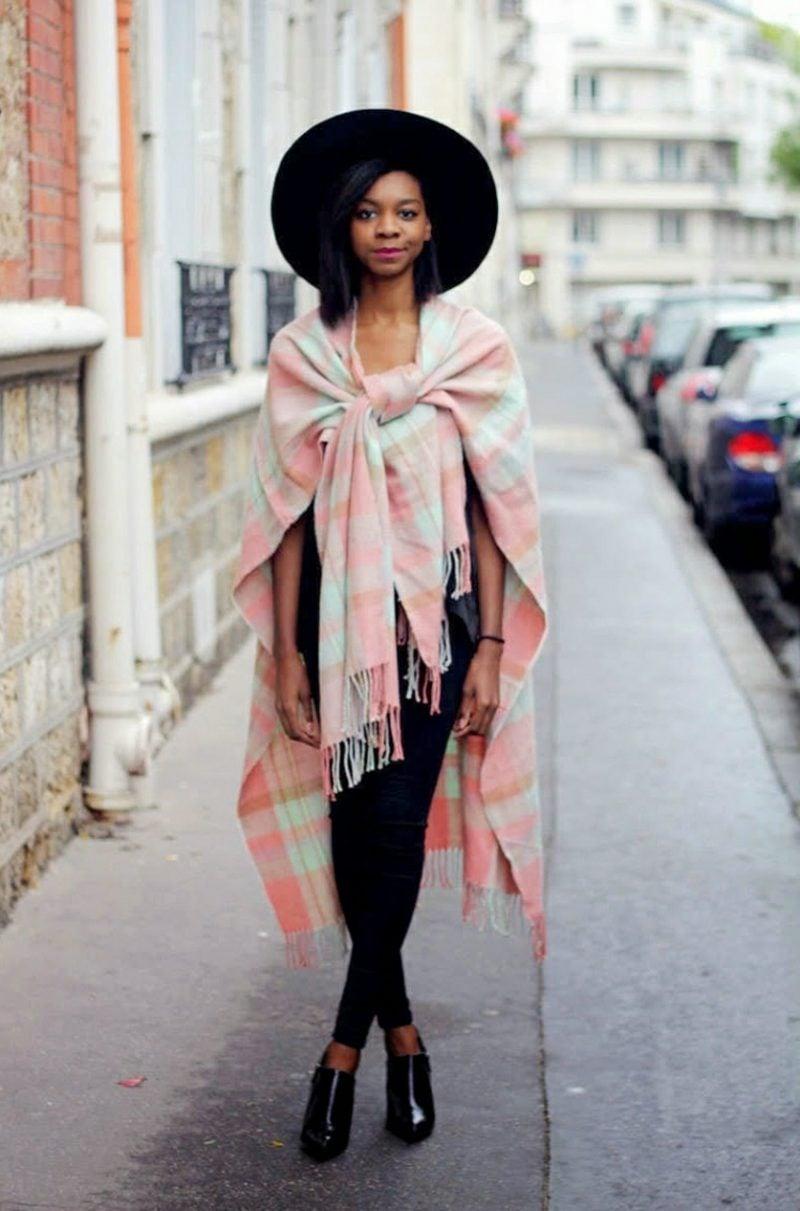 Hippie Style Winter Poncho