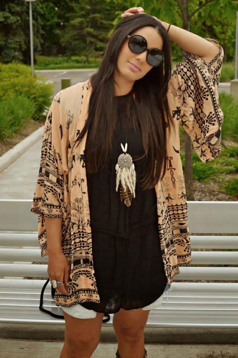 Hippie Kleid kurz modern romantische Kleider