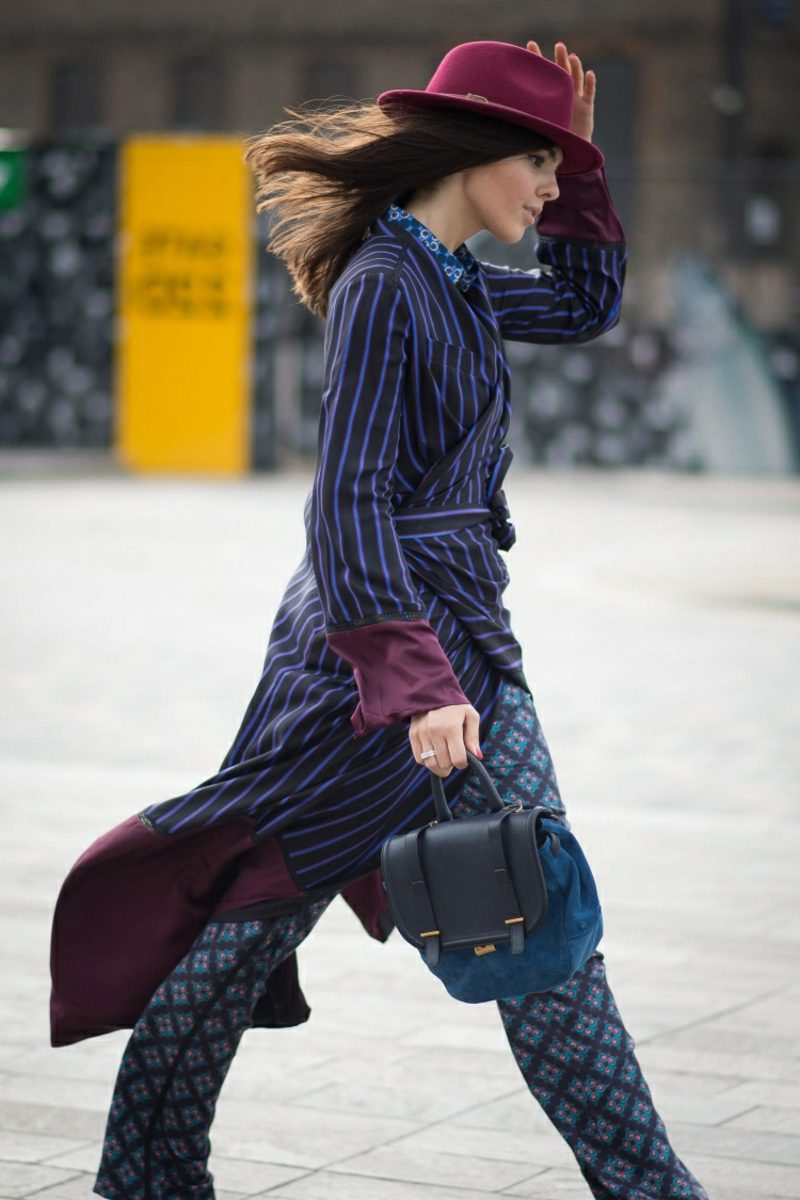 Hippie Style Winter Mantel Hose originelle Muster