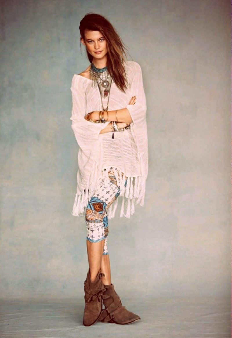 romantische Kleider Blusen Boho Style