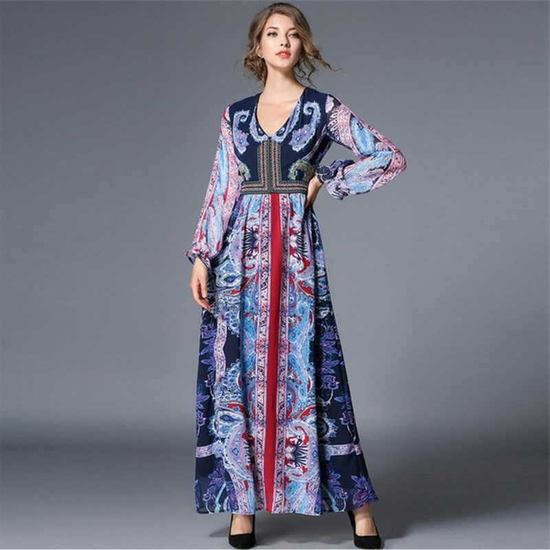 Abendkleider lang romantisch Boho Style