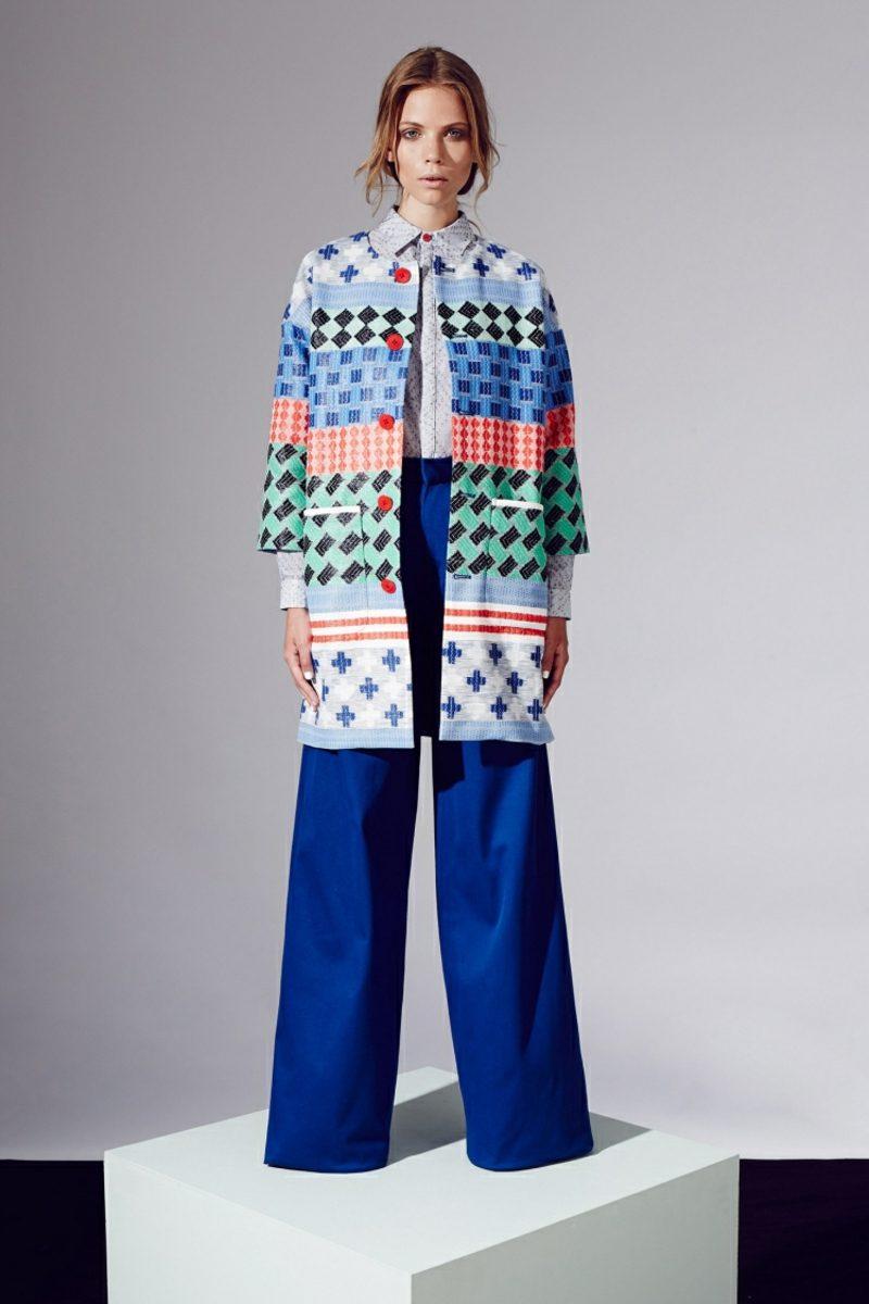 Boho Style Hose breit Mantel originelle Muster