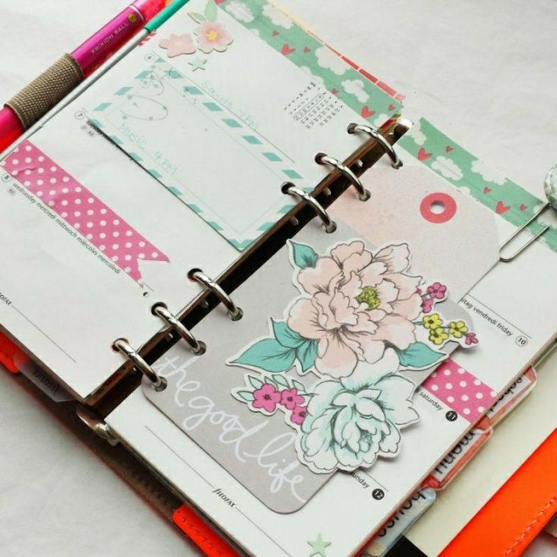 Filofaxing Terminkalender verzieren mit Aufklebern und Washi Tape
