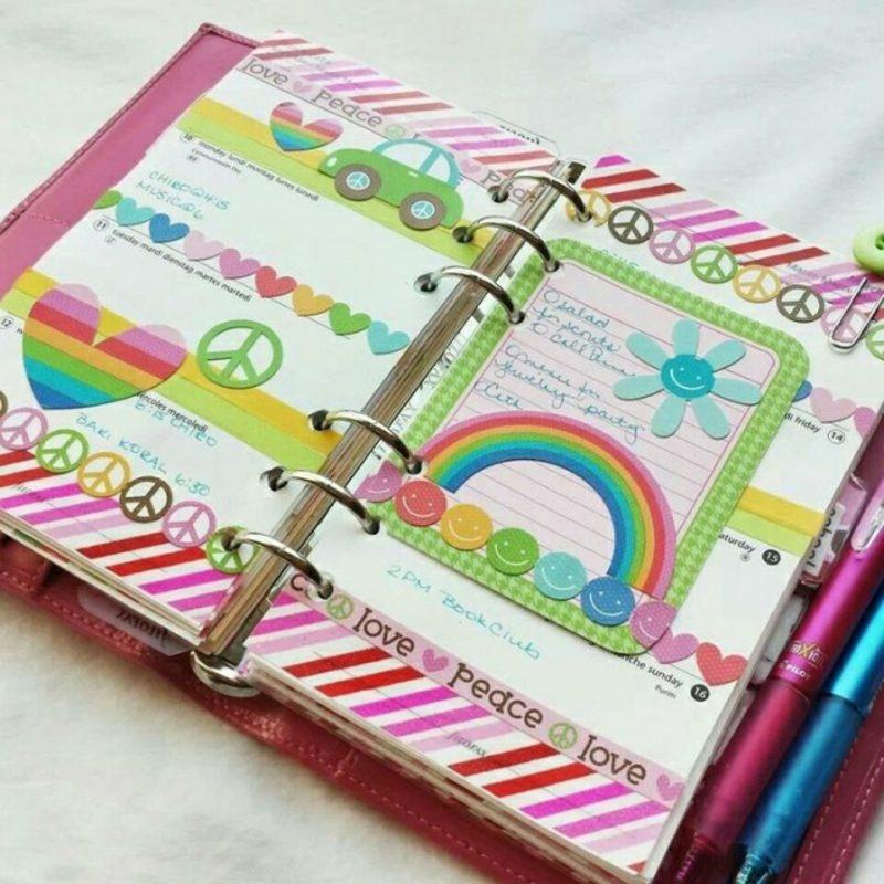 Filofaxing tolle DIY Ideen Regenbogenfarben