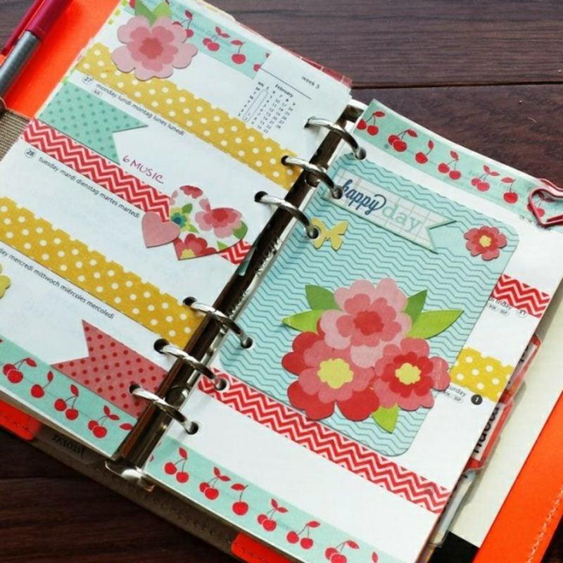 Filofaxing Dekoideen florale Motive Washi Tape