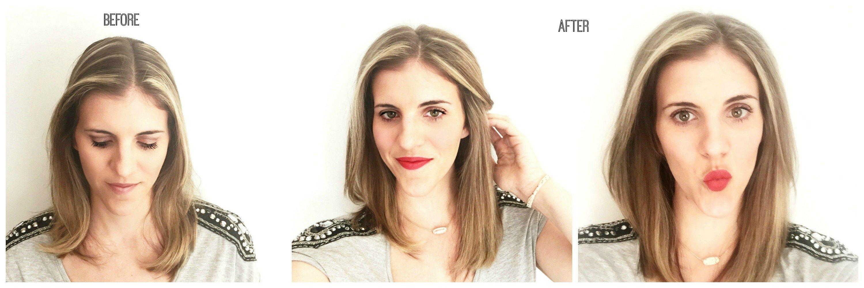 Vorher-Nachher - dünne Haare