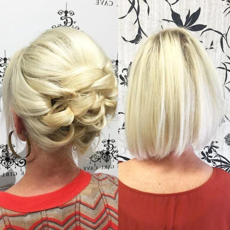 Party-Frisur für feines Haar