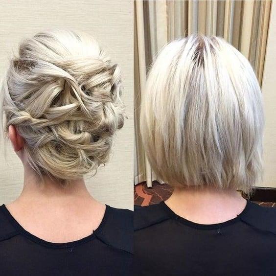 Party-Frisur für dünne Haare