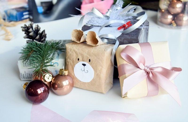 DIY Weihnachtsdeko Geschenke verpacken