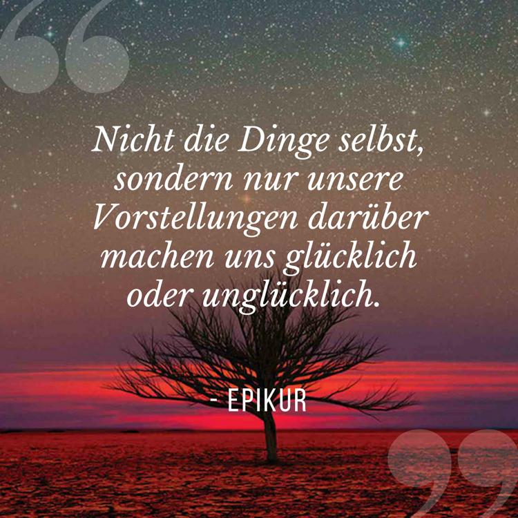 Lebensmotto Sprüche und Zitate Epikur