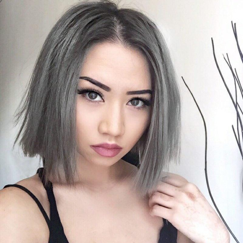 Haare färben neue Trends Farbe Grau