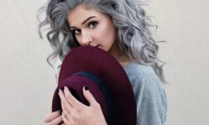 graue Haare färben Boho Look