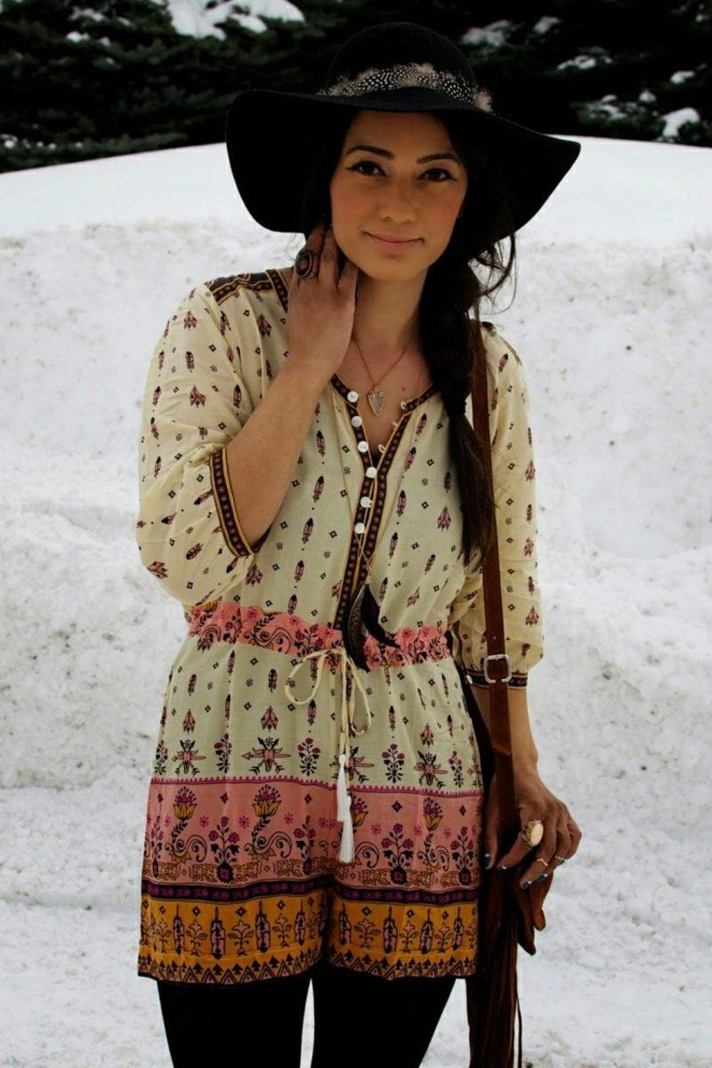 Hippie Look zum Nachstylen omantische Kleider