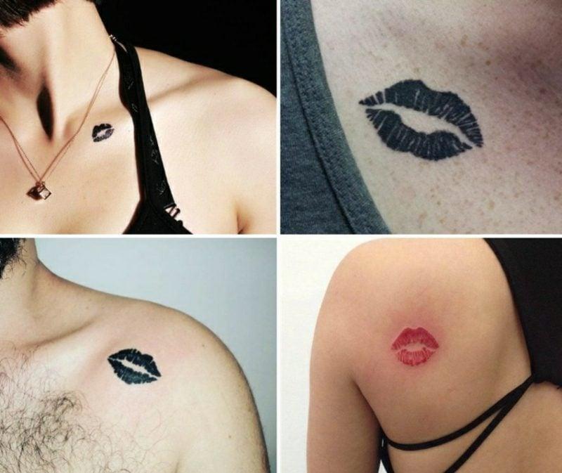 Kussmund Tattoo Designs Damen und Herren
