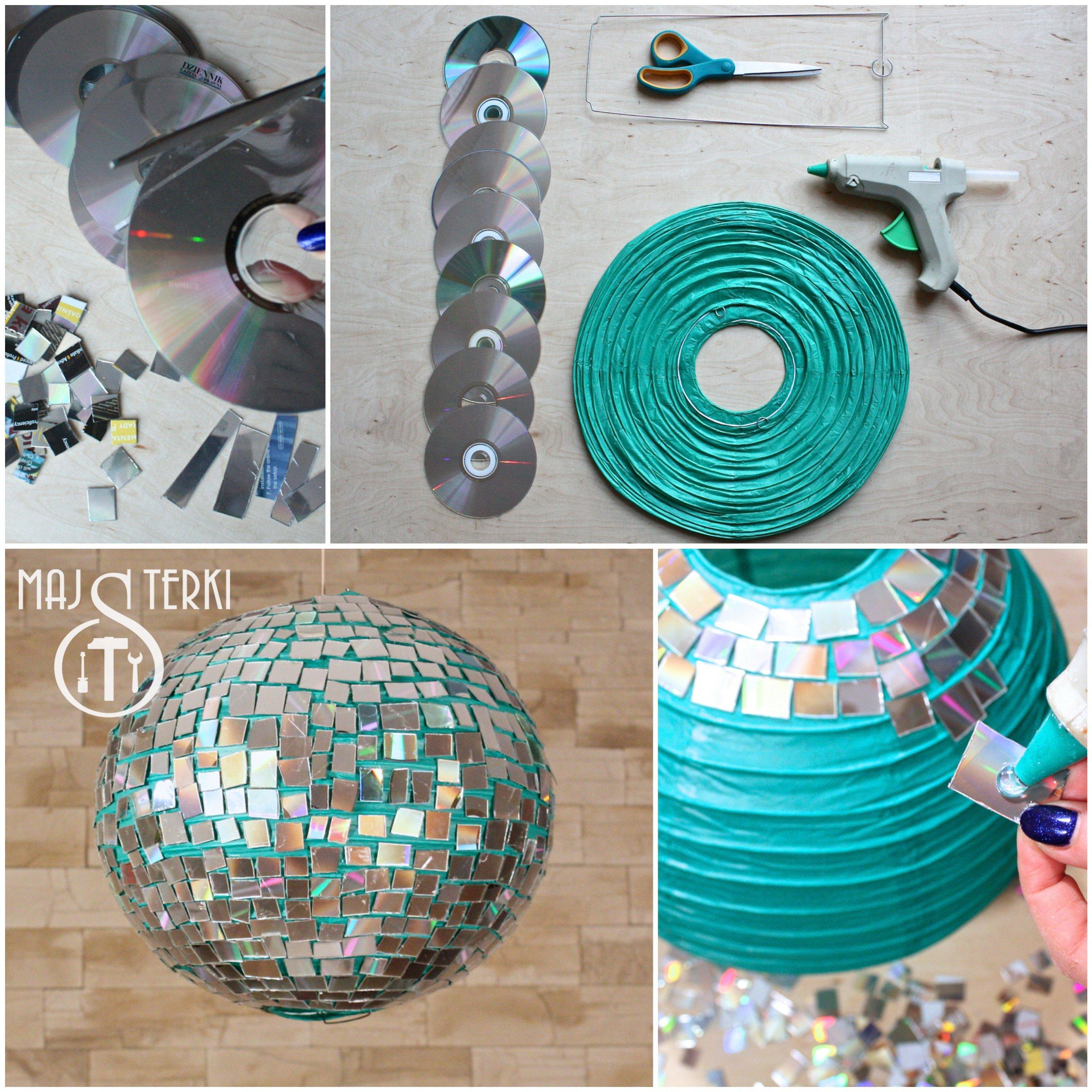 Lampions basteln aus ungebrauchten CDs