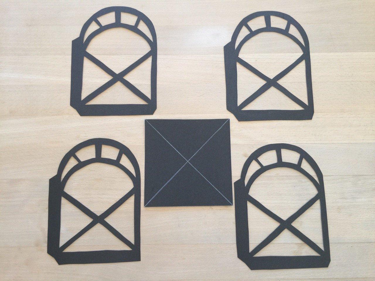 Papier Laterne basteln Schritt 3