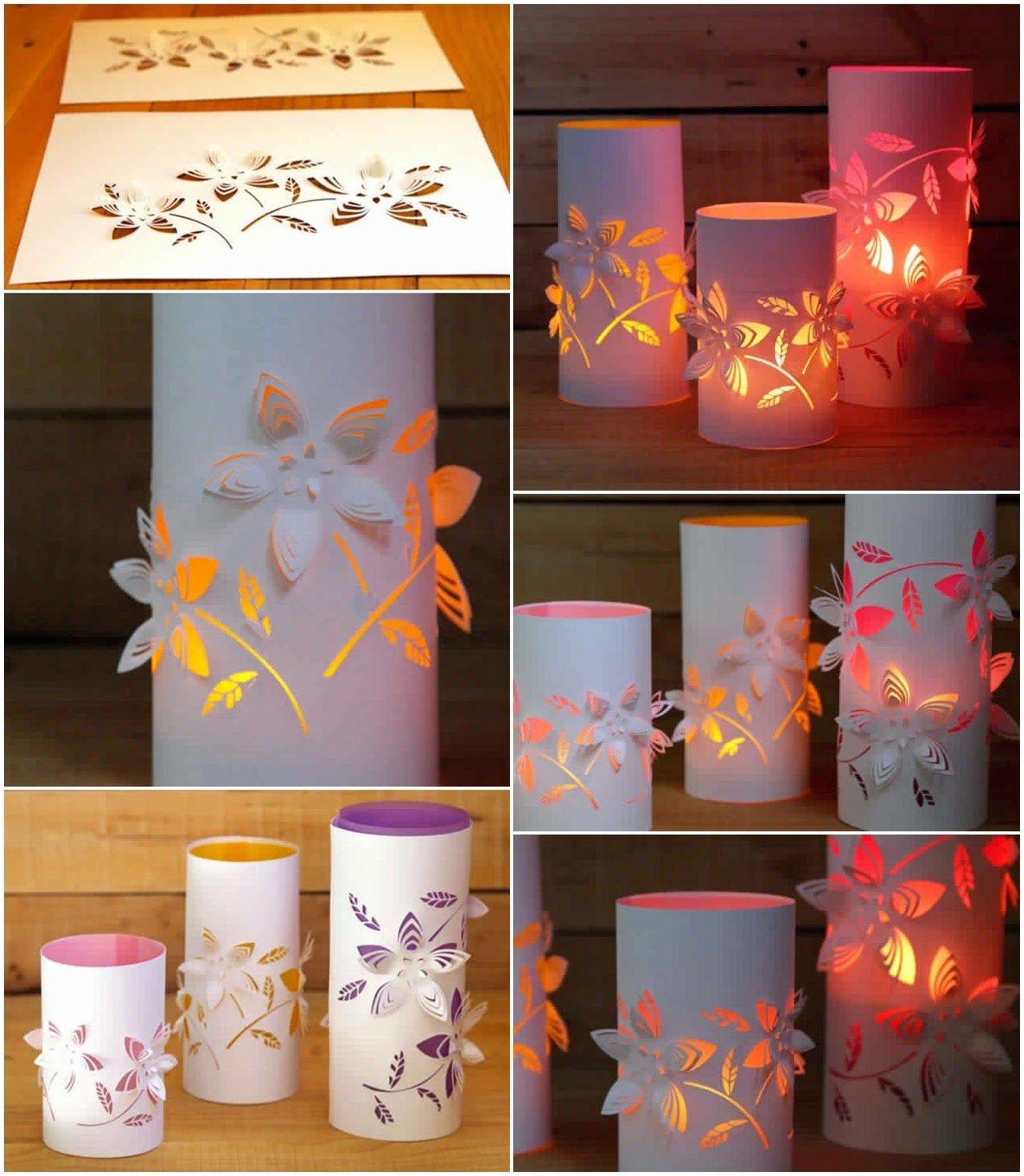 Laterne basteln mit Papierritzen