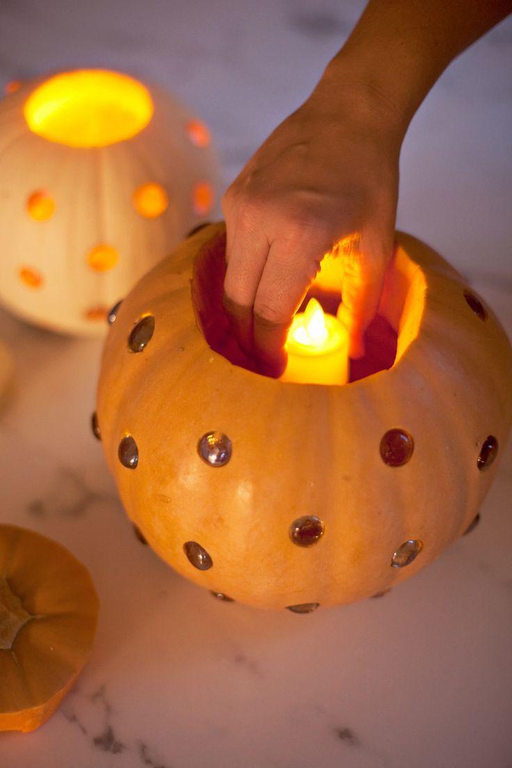 Kürbis -Laterne für Halloween