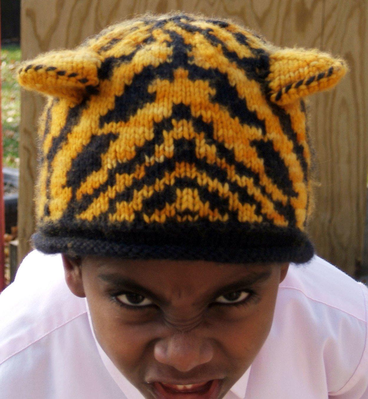 eine coole Tiger-Mütze