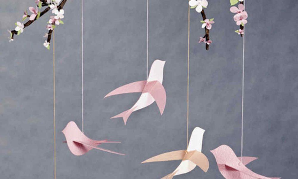 Kreative ideen f r mobile basteln zum selbermachen bastelideen deko feiern diy zenideen - Basteln fur babyzimmer ...