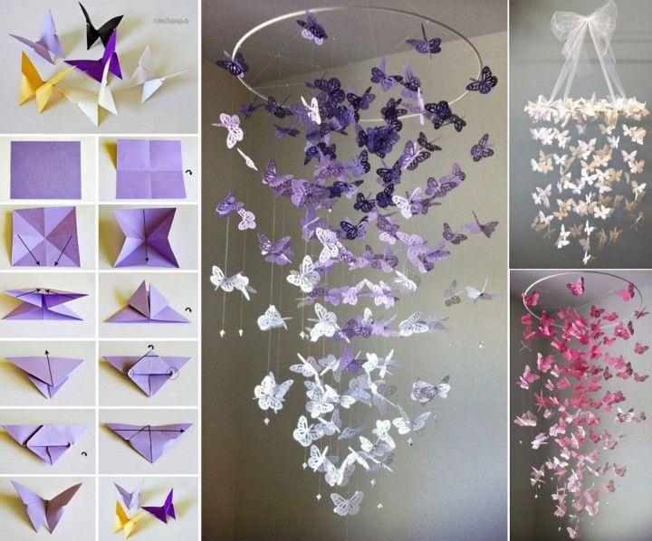 Schmetterlinge von der Decke