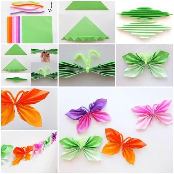 Schmetterlinge zum selber falten
