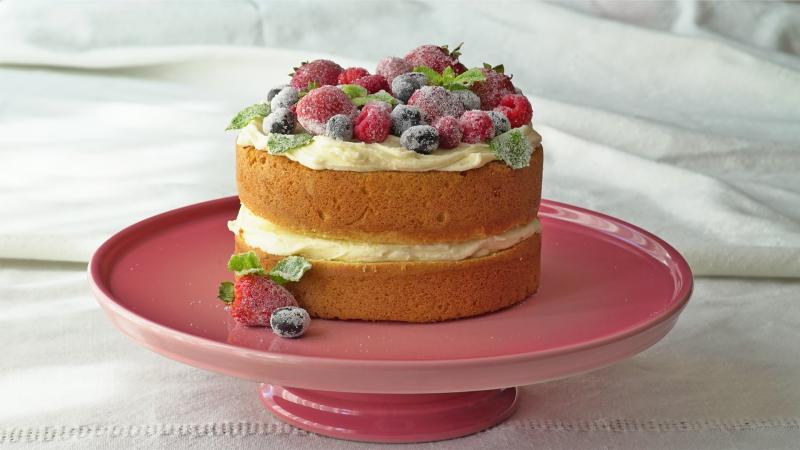 Sallys Welt Naked Cake Rezept zweischichtig