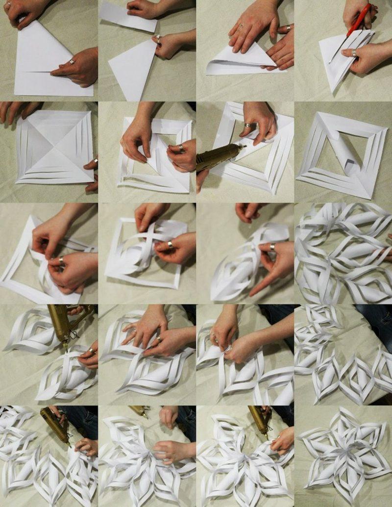 Origami Weihnachten 3d Schneeflocken