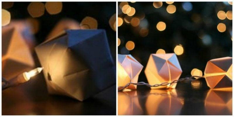 Origami Weihnachten Lichterkette auspeppen
