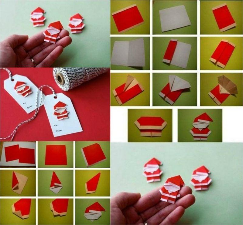 Origami Weihnachten Weihnachsmann