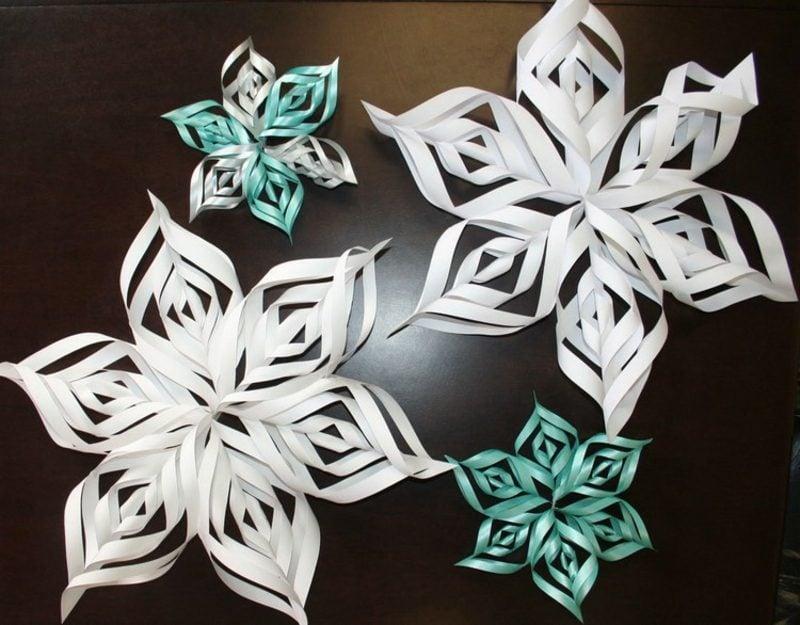 Origami Weihnachten originelle Schneeflocken