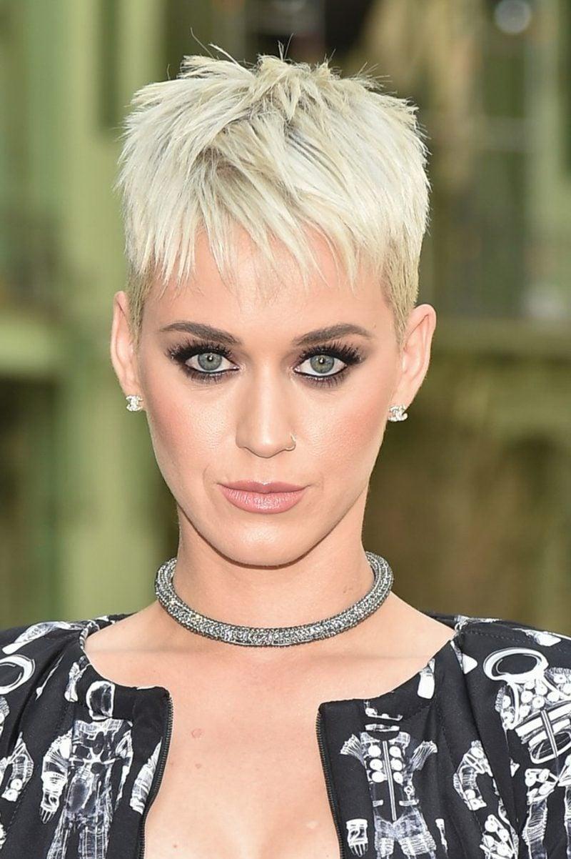Kurzhaarfrisuren Frauen 2017 Pixie Cut Katy Perry