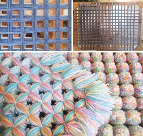 Pompom-Teppich selber machen