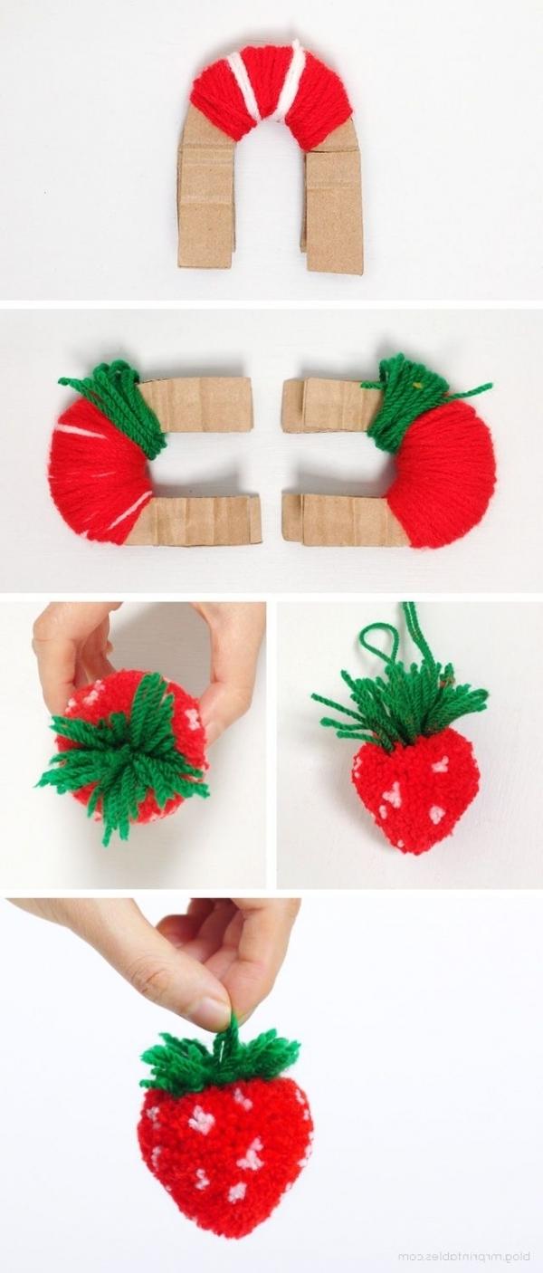Pompom-Erdbeere-zum Anbeißen süß