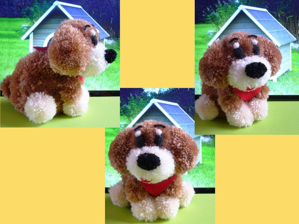 Ein Pompom-Hund - tolles Geschenk für Kinder